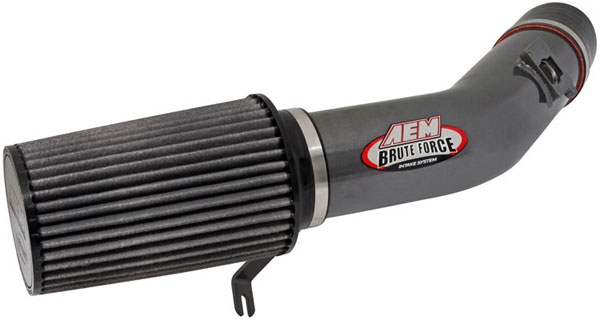 AEM 21-8104DC:  Brute Force Intake System FORD 03-05 6.0L TD - Silver Gray