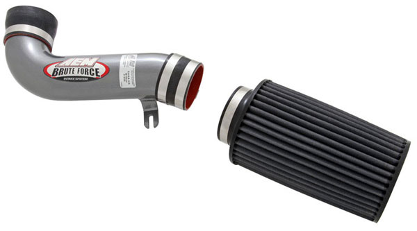 AEM 21-8105DC |  Brute Force Intake System FORD MUSTANG GT W/MAF - Silver Gray; 1987-1993