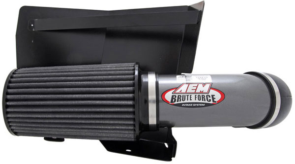 AEM 21-8204DC |  Brute Force Intake System DODGE RAM 98-02 5.9L TD - Silver Gray