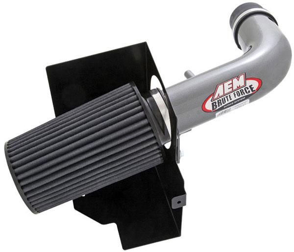 AEM 21-8314DC |  Brute Force Intake System JEEP WRANGLER 07-08 3.8L V6 - Silver Gray