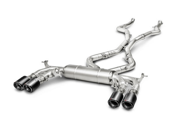 Akrapovic S-BM/T/1 |  15-17 BMW X6 M (F86) Evolution Line Cat Back (Titanium) w/ Carbon Tips