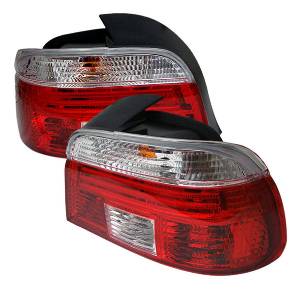 xTune (ALT-CI-BE3997-RC)  BMW E39 5-Series 97-03 Tail Light - Red Clear