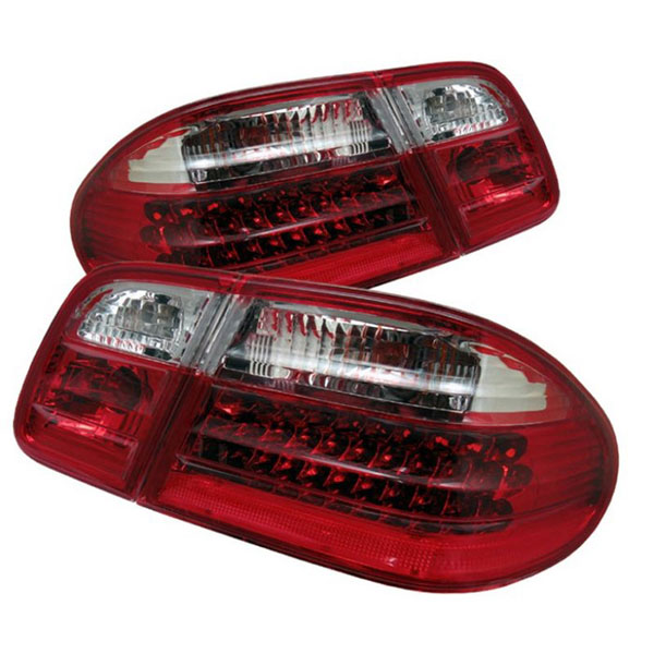 xTune (ALT-CL-MBW210-LED-RC)  Mercedes Benz W210 E-Class 96-02 LED Tail Lights - Red Clear