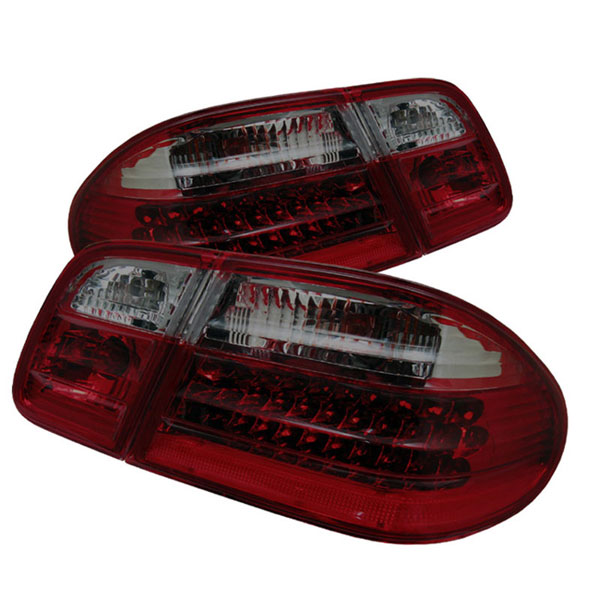 xTune ALT-CL-MBW210-LED-RSM:  Mercedes Benz W210 E-Class 96-02 LED Tail Lights - Red Smoke