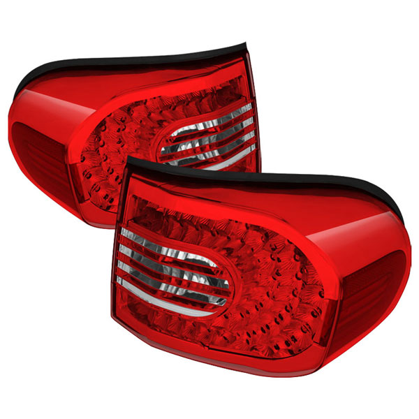 xTune ALT-CL-TFJ07-LED-RC |  Toyota FJ Cruiser LED Tail Lights - Red/Clear; 2007-2011