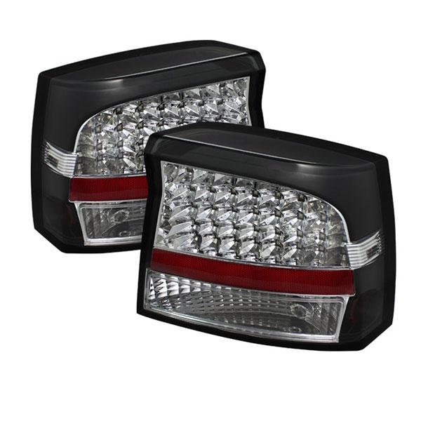 xTune ALT-JH-DCH05-LED-BK |  Dodge Charger LED Tail Lights - Black; 2006-2008