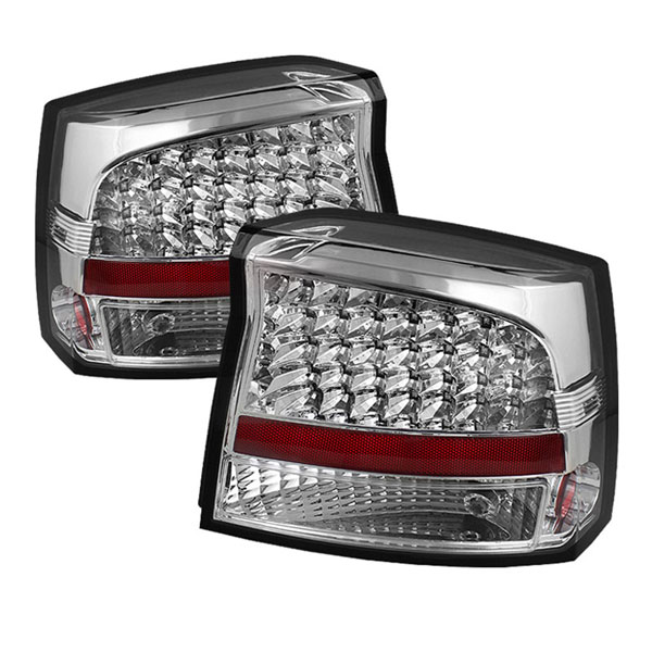 xTune ALT-JH-DCH09-LED-C:  Dodge Charger 2009-2010 LED Tail Lights - Chrome
