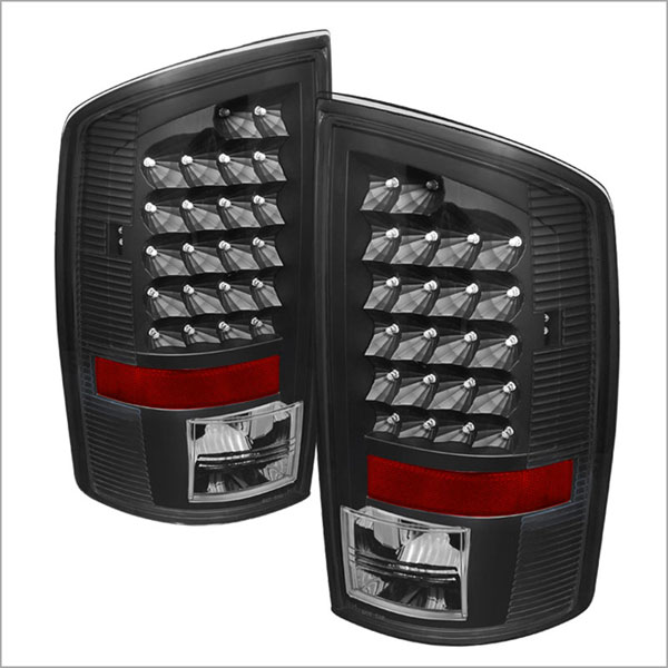 xTune ALT-JH-DR02-LED-BK |  Dodge Ram 1500/2500/3500 LED Tail Lights - Black; 2002-2006
