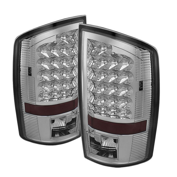 xTune ALT-JH-DR02-LED-C    Dodge Ram 1500/2500/3500 LED Tail Lights - Chrome; 2002-2006