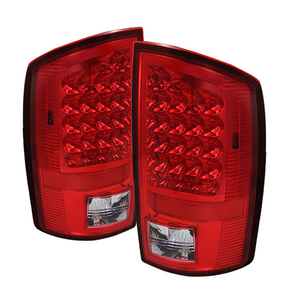 xTune ALT-JH-DR02-LED-RC |  Dodge Ram 1500/2500/3500 LED Tail Lights - Red Clear; 2002-2006