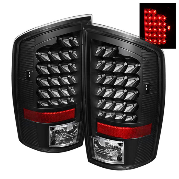 xTune ALT-JH-DR07-LED-BK:  Dodge Ram 07-08 1500/2500/3500 LED Tail Lights - Black
