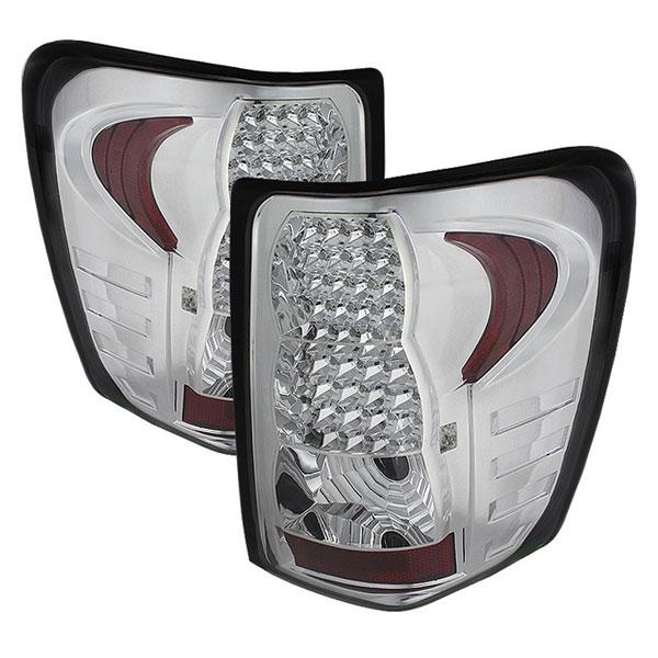 xTune ALT-JH-JGC99-LED-C |  Jeep Grand Cherokee 99-04 LED Tail Lights - Chrome