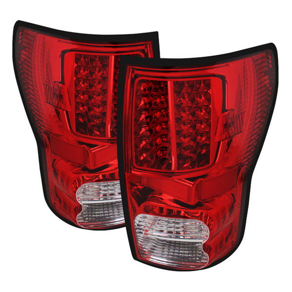 xTune ALT-JH-TTU07-LED-RC:  Toyota Tundra 07-12 LED Tail lights - Red Clear