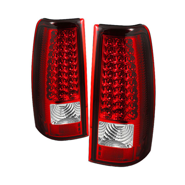 xTune ALT-ON-CS03-LED-RC |  Chevrolet Silverado 1500/2500/3500 (Do not fit 3500. Stepside. Barn Door) LED Tail Lights - Red Clear; 2003-2006