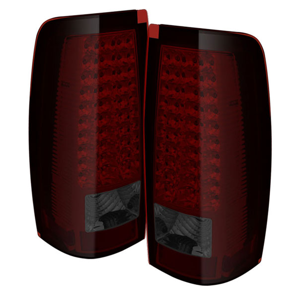 xTune ALT-ON-CS03-LED-RS |  GMC Sierra 1500/2500/3500 Fleetside LED Tail Lights - Red Smoke; 2004-2006