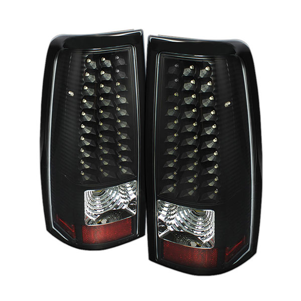 xTune ALT-ON-CS99-LED-BK:  GMC Sierra 1500/2500/3500 99-03 LED Tail Lights - Black