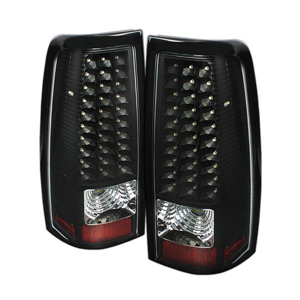 xTune ALT-ON-CS99-LED-BK |  Chevrolet Silverado 1500/2500/3500 LED Tail Lights - Black; 1999-2002