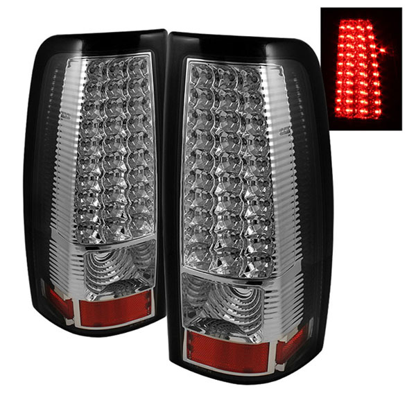 xTune ALT-ON-CS99-LED-C:  Chevrolet Silverado 1500/2500/3500 99-02 LED Tail Lights - Chrome