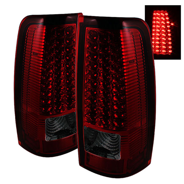 xTune ALT-ON-CS99-LED-RS |  GMC Sierra 1500/2500/3500 99-03 LED Tail Lights - Red Smoke