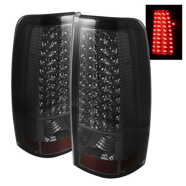 xTune ALT-ON-CS99-LED-SM    Chevrolet Silverado 1500/2500/3500 LED Tail Lights - Smoke; 1999-2002