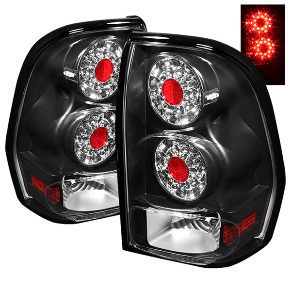 xTune ALT-ON-CTB02-LED-BK |  Chevrolet TrailBlazer LED Tail Lights - Black; 2002-2009