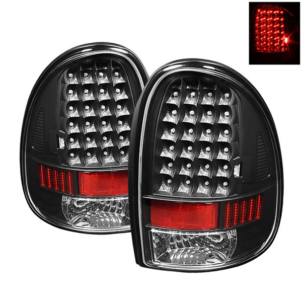 xTune ALT-ON-DC96-LED-BK:  Dodge Caravan/Grand Caravan 96-00 / Chrysler Town & Country 96-00 / Plymouth Voyager/Grand Voyager 96-00 LED Tail Lights - Black