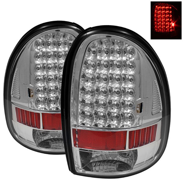 xTune ALT-ON-DC96-LED-C |  Dodge Caravan/Grand Caravan / Chrysler Town & Country / Plymouth Voyager/Grand Voyager LED Tail Lights - Chrome; 1996-2000