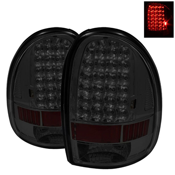 xTune ALT-ON-DC96-LED-SM:  Dodge Durango 98-03 LED Tail Lights - Smoke