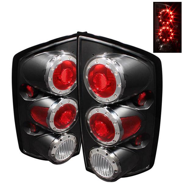 xTune ALT-ON-DRAM02-LED-BK |  Dodge Ram 1500 LED Tail Lights - Black; 2002-2006