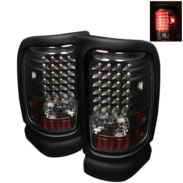 xTune ALT-ON-DRAM94-LED-BK |  Dodge Ram 1500 LED Tail Lights - Black; 1994-2001
