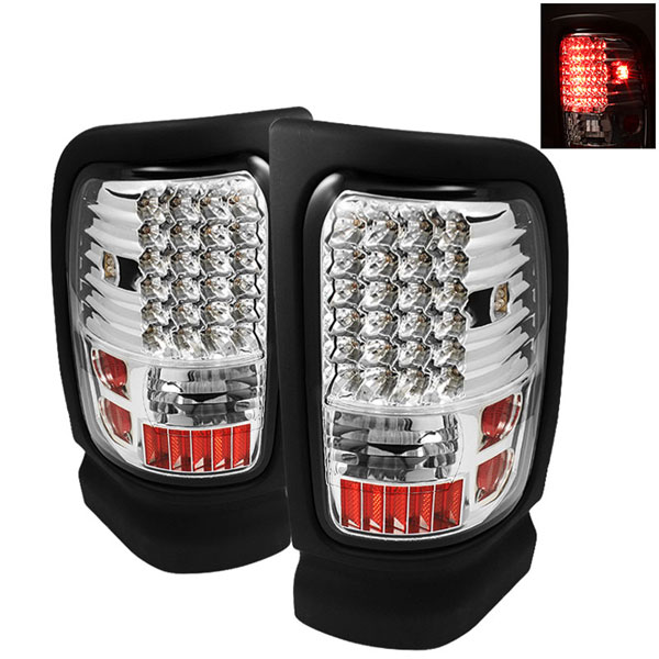 xTune ALT-ON-DRAM94-LED-C |  Dodge Ram 2500/3500 LED Tail Lights - Chrome; 1994-2002