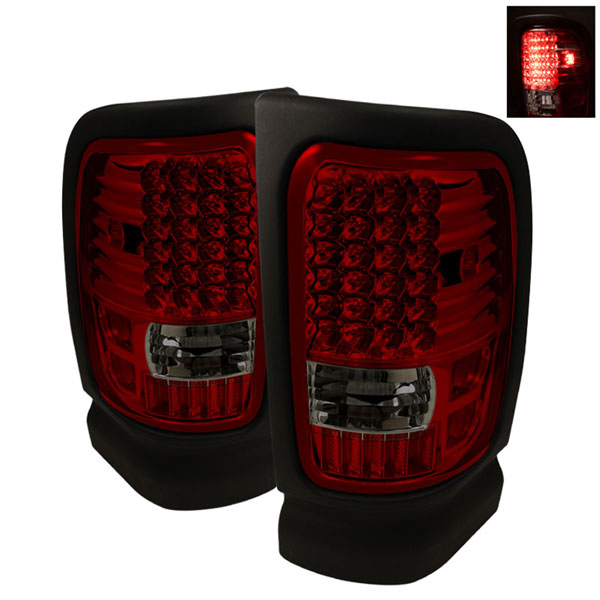 xTune (ALT-ON-DRAM94-LED-RS)  Dodge Ram 1500 94-01 LED Tail Lights - Red Smoke