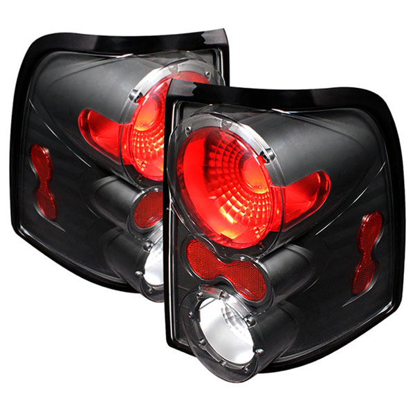 xTune ALT-ON-FEXP02-BK |  Ford Explorer 4Dr (Except Sport Trac) Altezza Tail Lights - Black; 2002-2005