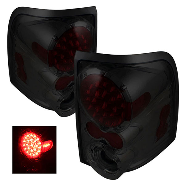 xTune ALT-ON-FEXP02-LED-SM:  Mercury Mountaineer 02-05 LED Tail Lights - Smoke