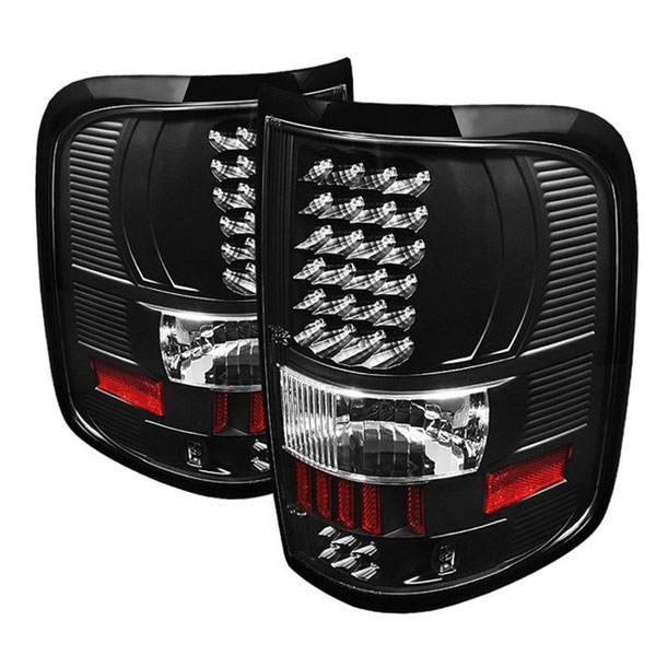 xTune ALT-ON-FF15004-LED-BK |  Ford F150 Styleside 04-08 (Not Fit Heritage & SVT) LED Tail Lights - Black