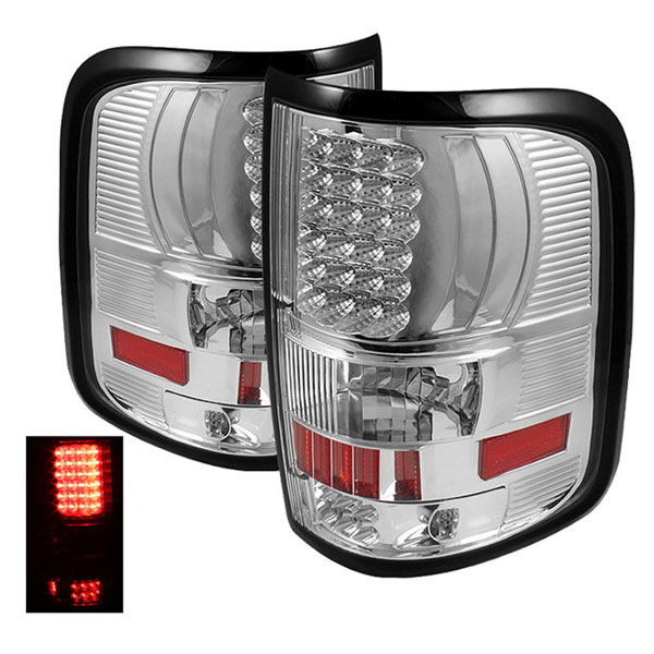 xTune ALT-ON-FF15004-LED-C |  Ford F150 Styleside 04-08 (Not Fit Heritage & SVT) LED Tail Lights - Chrome