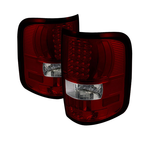 xTune ALT-ON-FF15004-LED-RC:  Ford F150 Styleside 04-08 (Not Fit Heritage & SVT) LED Tail Lights - Red Clear