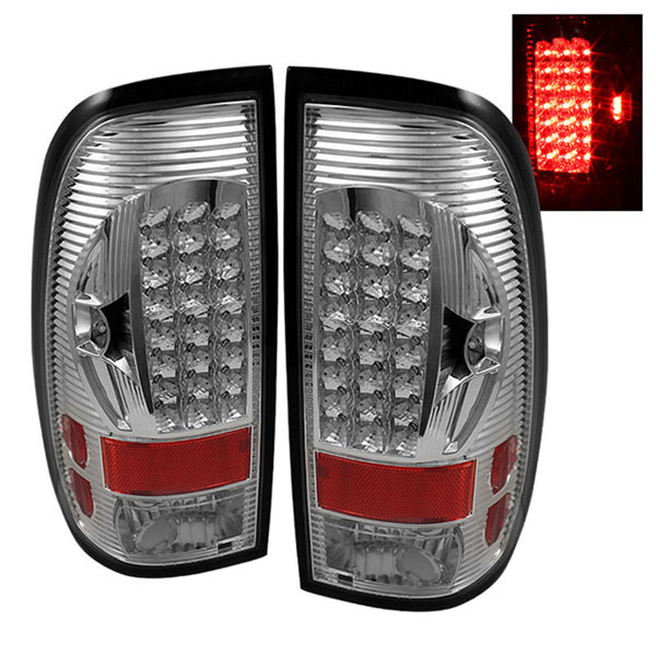 xTune ALT-ON-FF15097-LED-C |  Ford F150 Styleside 97-03 LED Tail Lights - Chrome
