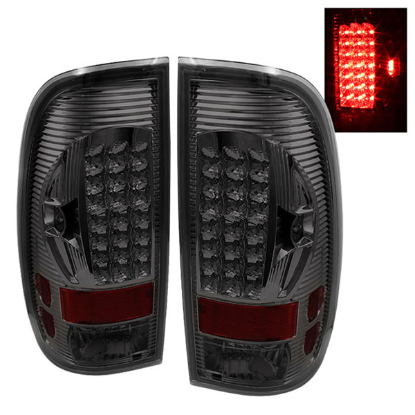xTune ALT-ON-FF15097-LED-SM |  Ford F150 Styleside LED Tail Lights - Smoke; 1997-2003