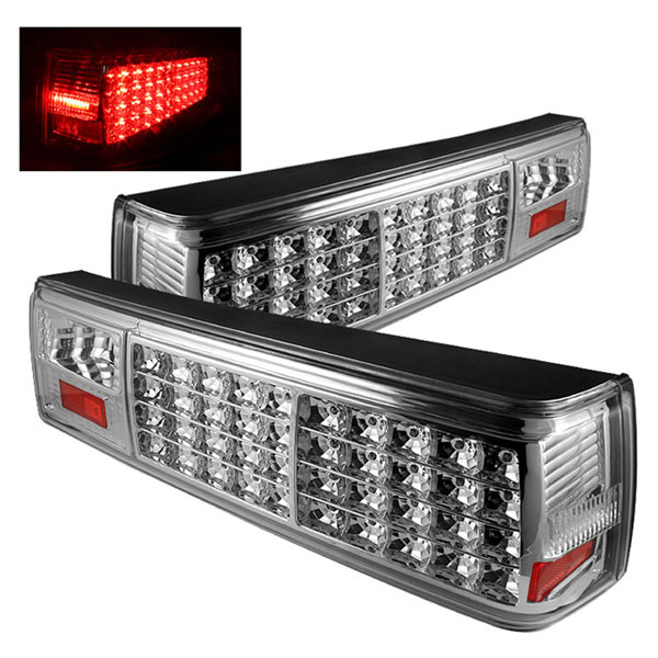 xTune ALT-ON-FM87-LED-C |  Ford Mustang LED Tail Lights - Chrome; 1987-1993