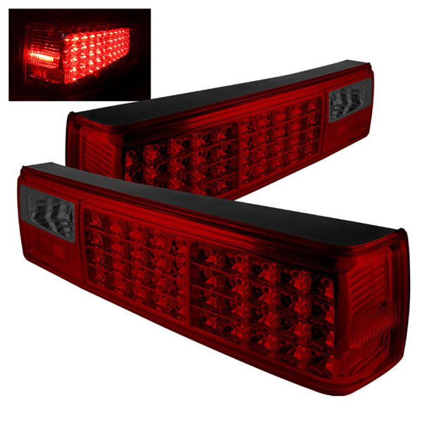 xTune ALT-ON-FM87-LED-RS:  Ford Mustang 87-93 LED Tail Lights - Red Smoke