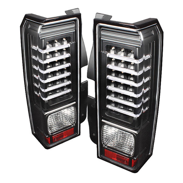 xTune ALT-ON-HH306-LED-BK:  Hummer H3 06-09 LED Tail Lights - Black