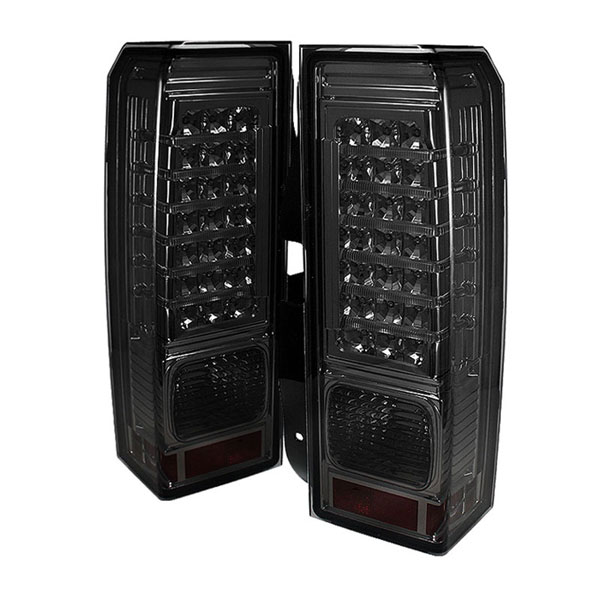 xTune ALT-ON-HH306-LED-SM:  Hummer H3 06-09 LED Tail Lights - Smoke