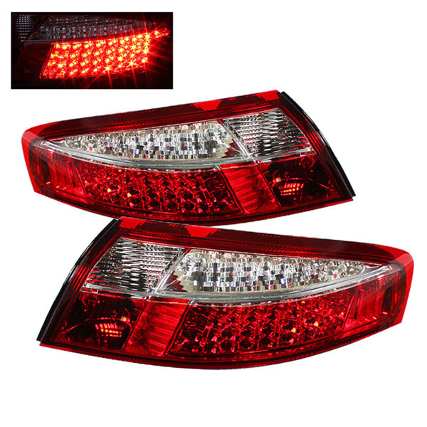 xTune ALT-ON-P99699-LED-RC |  Porsche 911 996 LED Tail Lights - Red Clear; 1999-2004