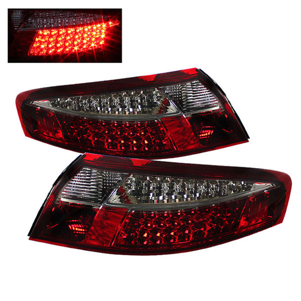 xTune (ALT-ON-P99699-LED-RS)  Porsche 911 996 99-04 LED Tail Lights - Red Smoke