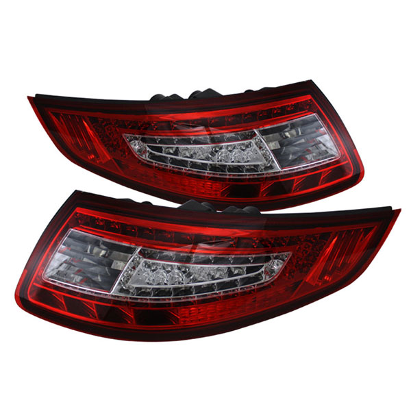 xTune ALT-ON-P99705-LED-RC |  Porsche 911 997 05-08 LED Tail Lights - Red Clear