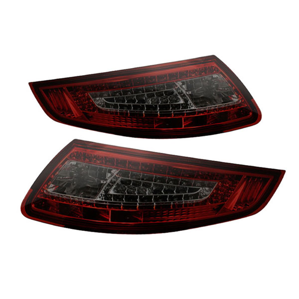xTune ALT-ON-P99705-LED-RS |  Porsche 911 997 LED Tail Lights - Red Smoke; 2005-2008