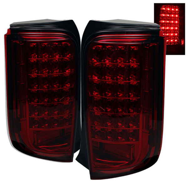 xTune ALT-ON-TSXB08-LED-RS |  Scion XB LED Tail Lights - Red Smoke; 2008-2010