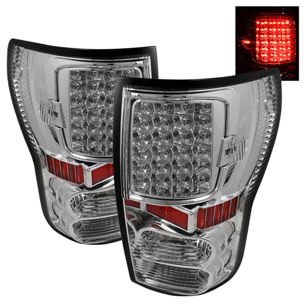 xTune ALT-ON-TTU07-LED-C |  Toyota Tundra 07-12 LED Tail lights - Chrome