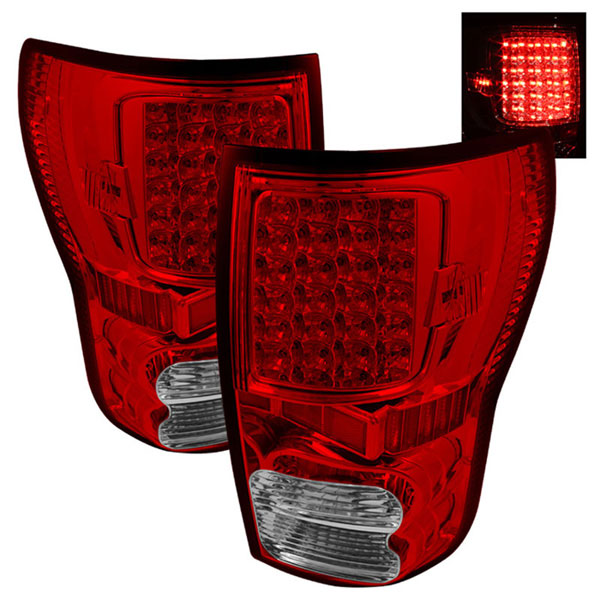 xTune ALT-ON-TTU07-LED-RC |  Toyota Tundra 07-12 LED Tail lights - Red Clear